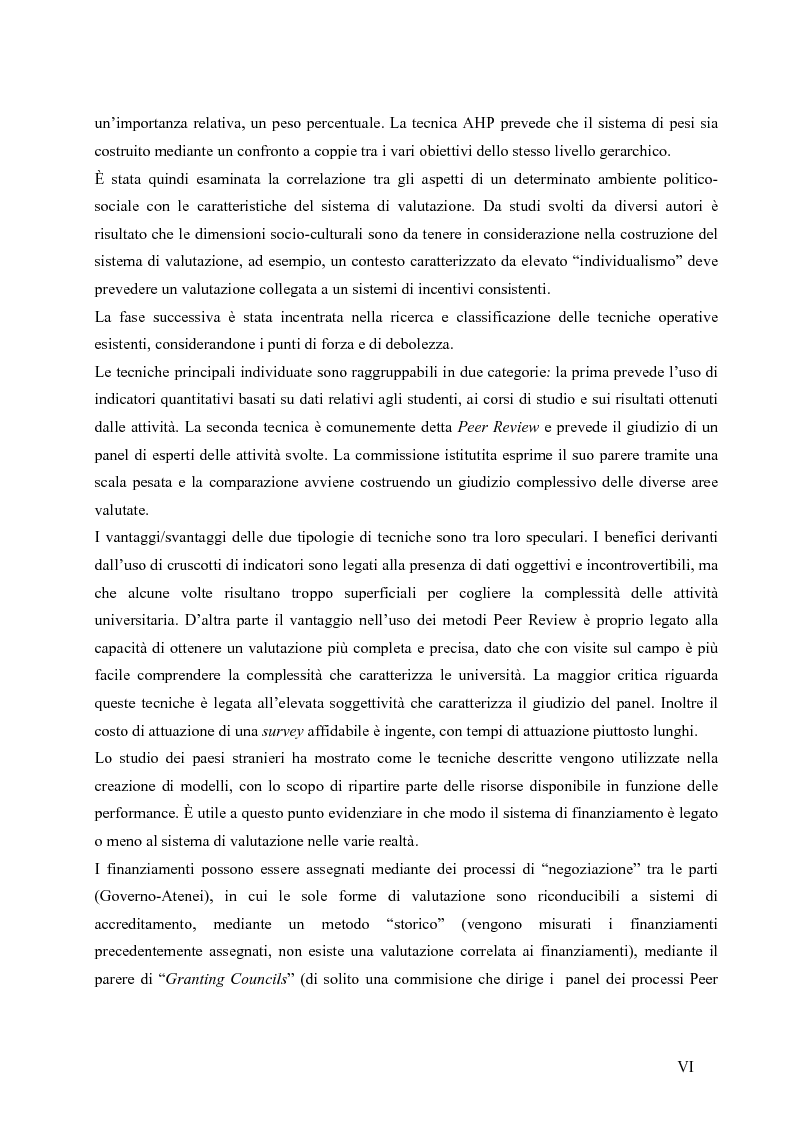 Anteprima della tesi: La valutazione del sistema universitario: un modello di analisi, Pagina 3