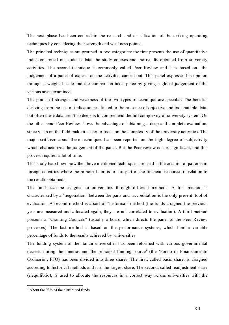Anteprima della tesi: La valutazione del sistema universitario: un modello di analisi, Pagina 9
