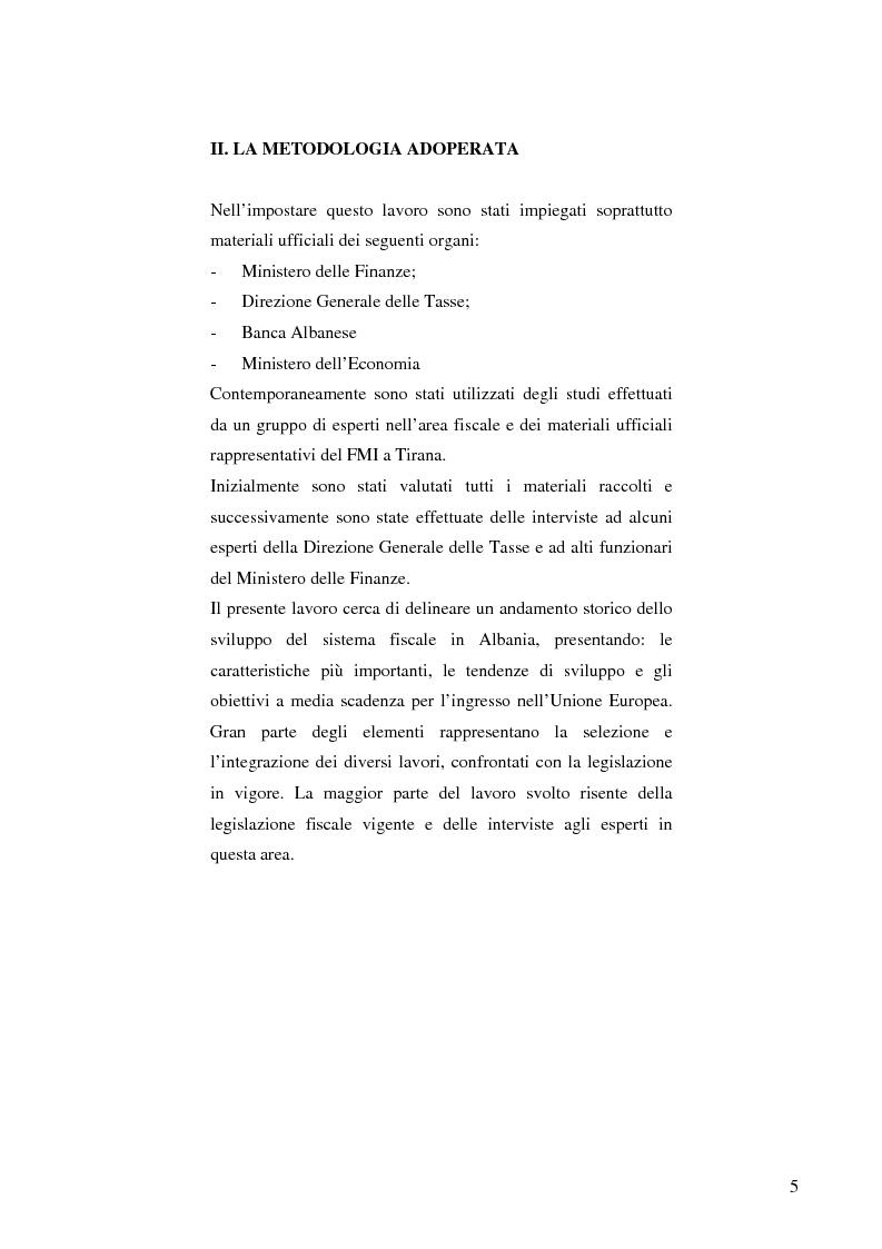 Anteprima della tesi: La politica fiscale albanese e gli obiettivi da raggiungere per entrare nell'Unione europea, Pagina 2