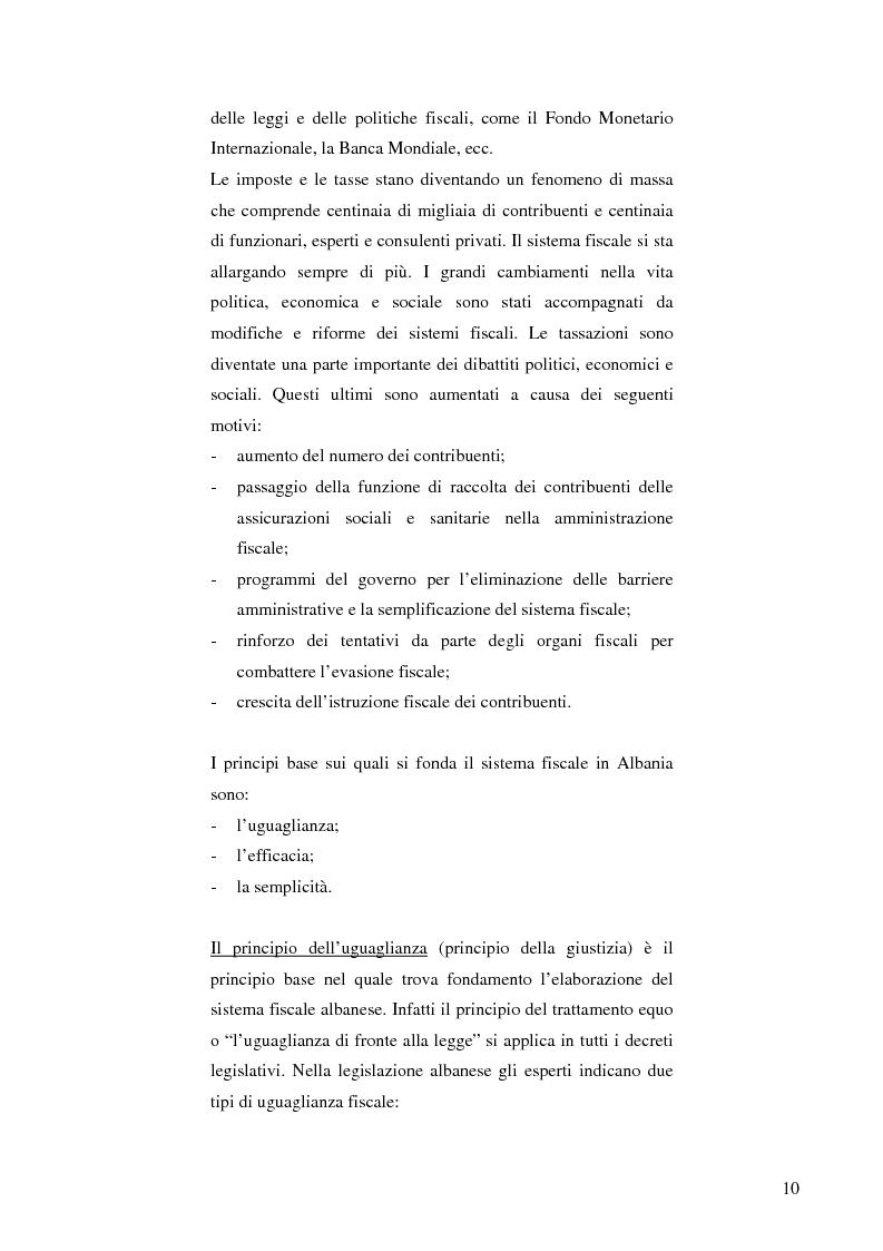 Anteprima della tesi: La politica fiscale albanese e gli obiettivi da raggiungere per entrare nell'Unione europea, Pagina 7