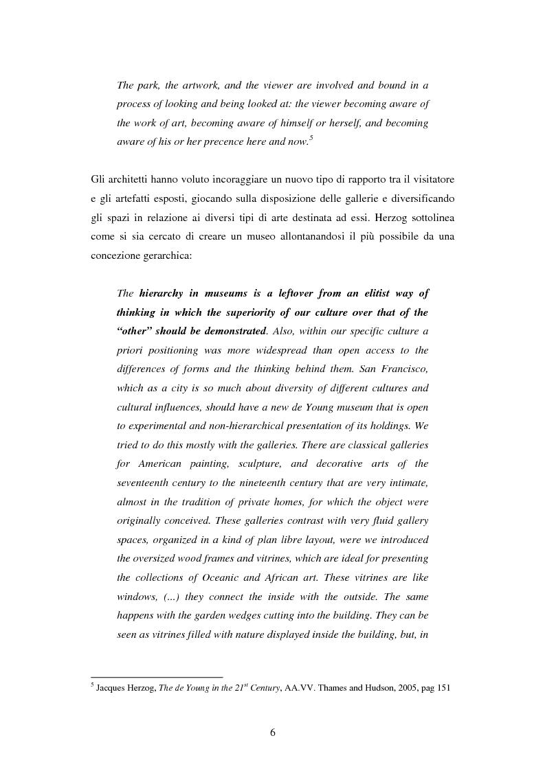 Anteprima della tesi: Strategie di Audience Development del new de Young Museum di San Francisco - The grand opening 2005, Pagina 4