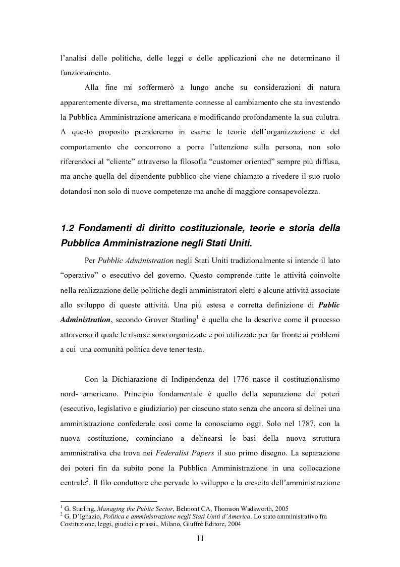 Anteprima della tesi: L'E-Government negli Stati Uniti d'America: dalla PA on line all'E-democracy, Pagina 10