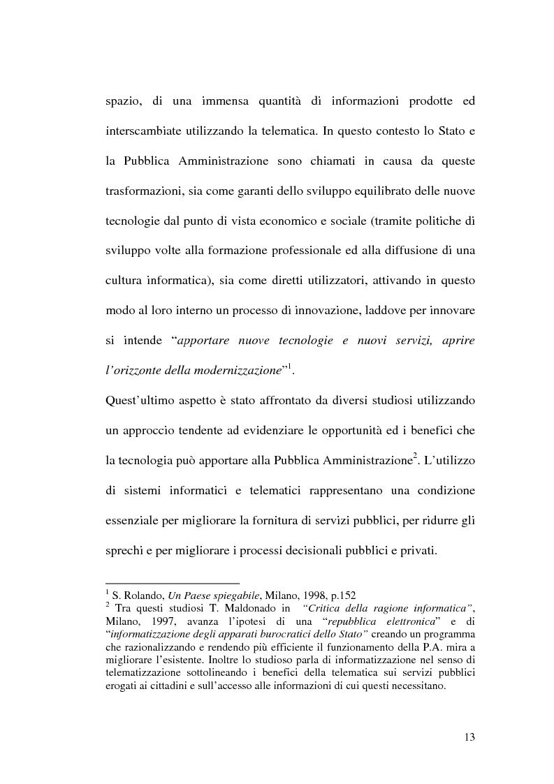 Anteprima della tesi: L'evoluzione della firma digitale: dal documento informatico all'amministrazione digitale, Pagina 11