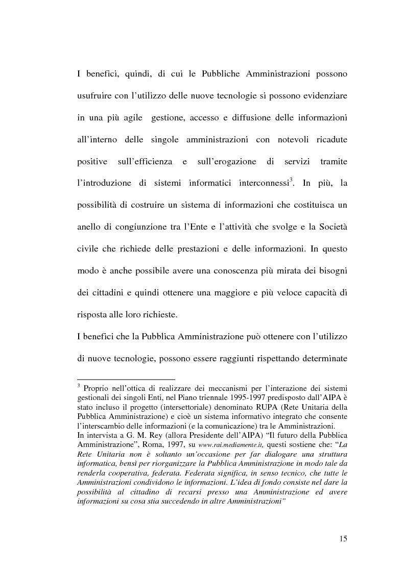 Anteprima della tesi: L'evoluzione della firma digitale: dal documento informatico all'amministrazione digitale, Pagina 13