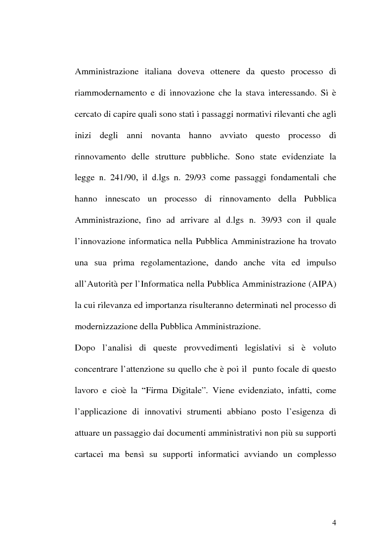 Anteprima della tesi: L'evoluzione della firma digitale: dal documento informatico all'amministrazione digitale, Pagina 2