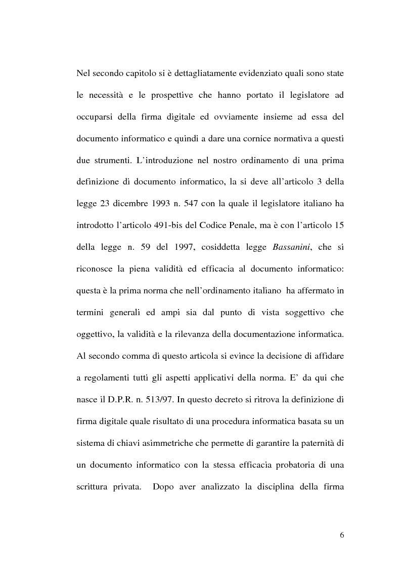 Anteprima della tesi: L'evoluzione della firma digitale: dal documento informatico all'amministrazione digitale, Pagina 4