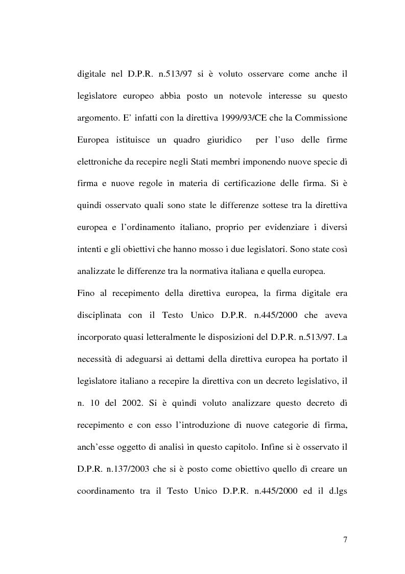 Anteprima della tesi: L'evoluzione della firma digitale: dal documento informatico all'amministrazione digitale, Pagina 5