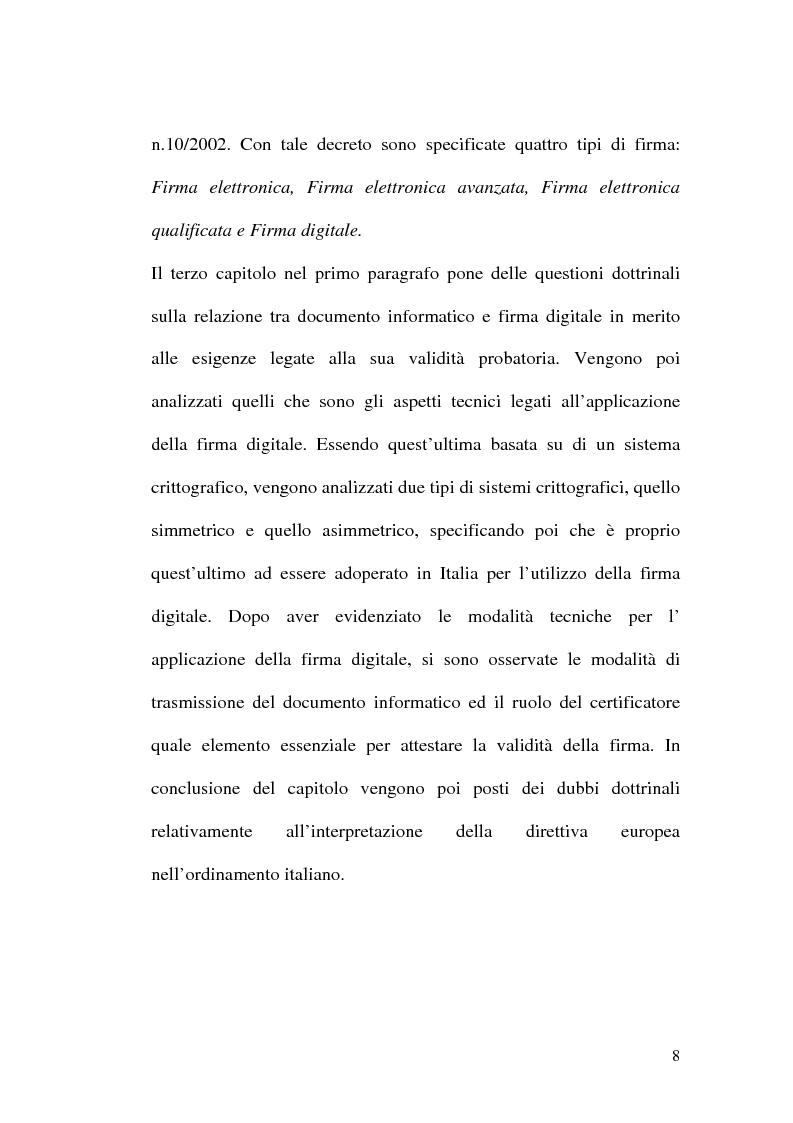 Anteprima della tesi: L'evoluzione della firma digitale: dal documento informatico all'amministrazione digitale, Pagina 6