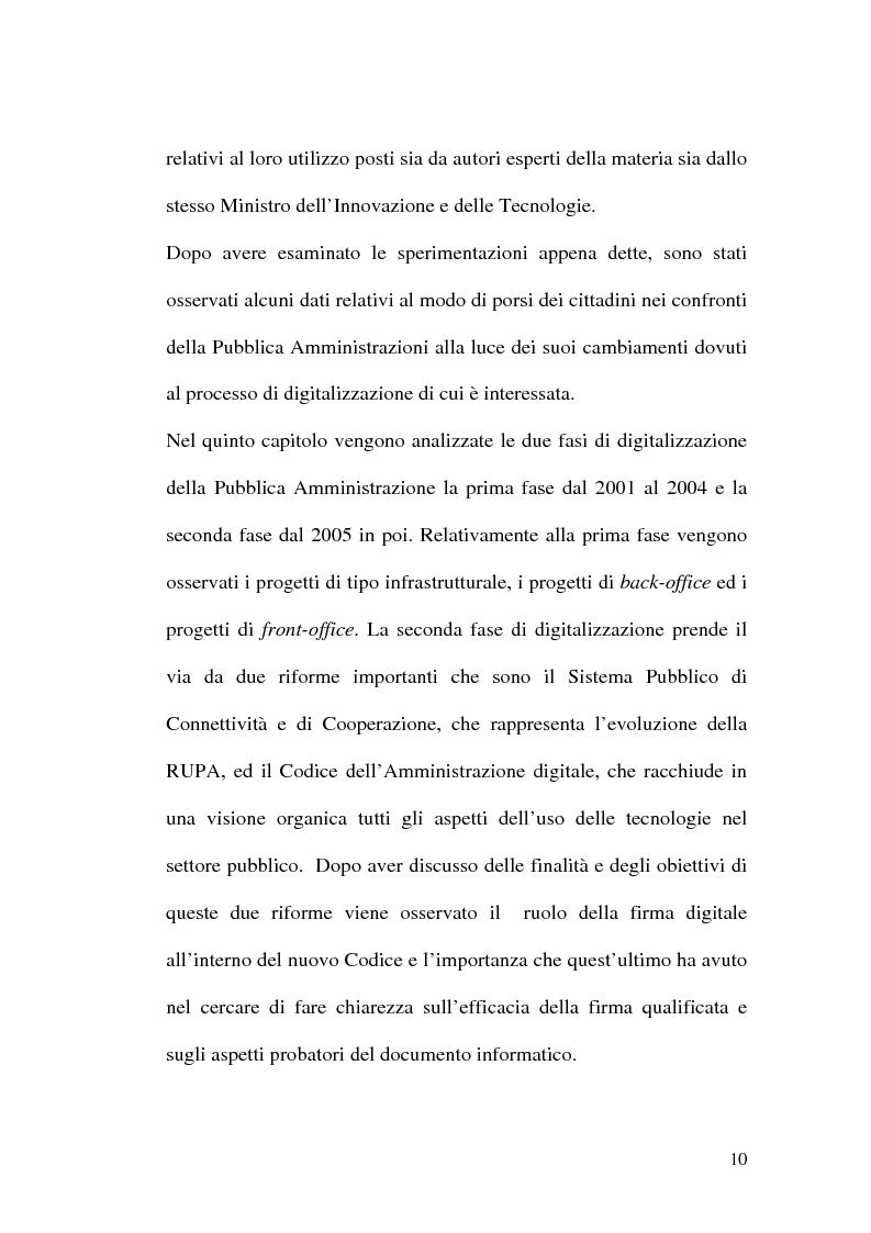 Anteprima della tesi: L'evoluzione della firma digitale: dal documento informatico all'amministrazione digitale, Pagina 8
