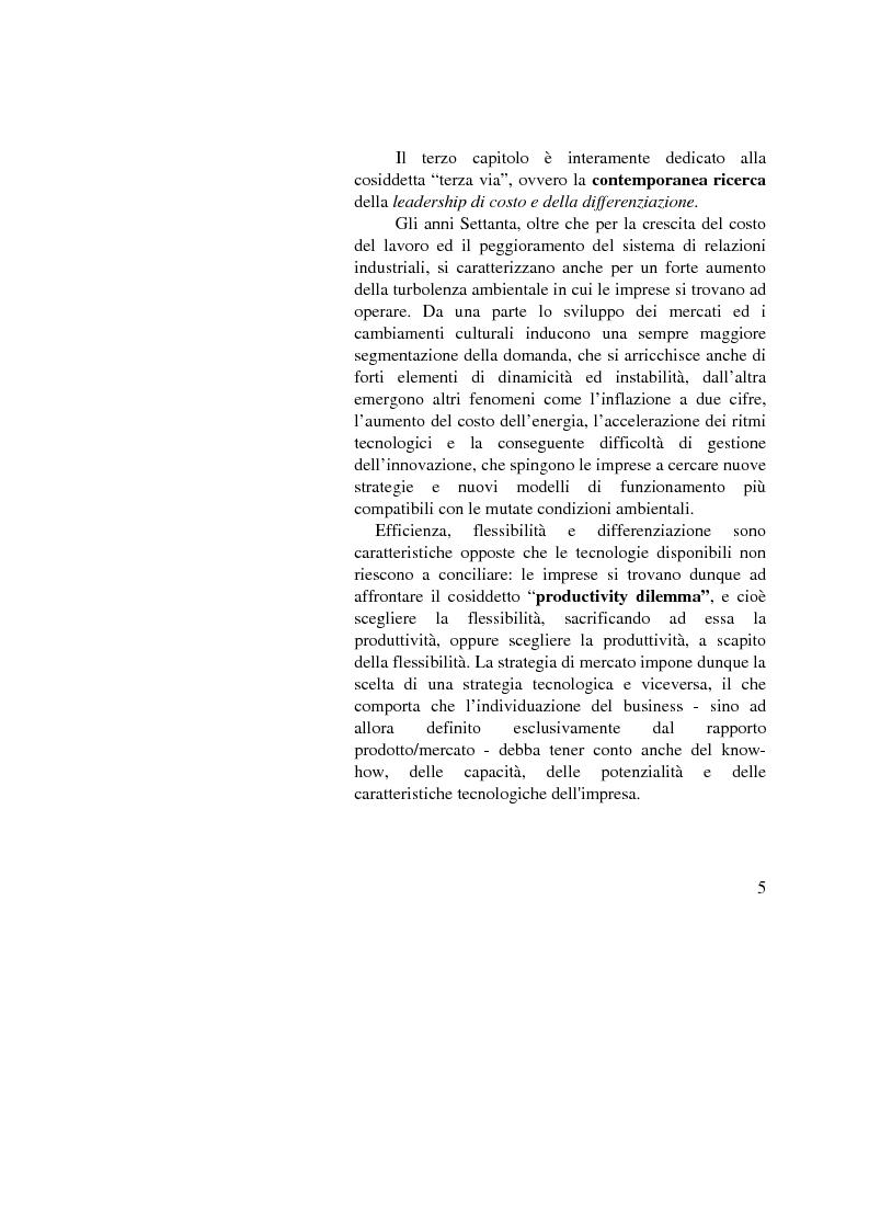 Anteprima della tesi: I vantaggi competitivi di successo: ''il caso Toyota'', Pagina 3