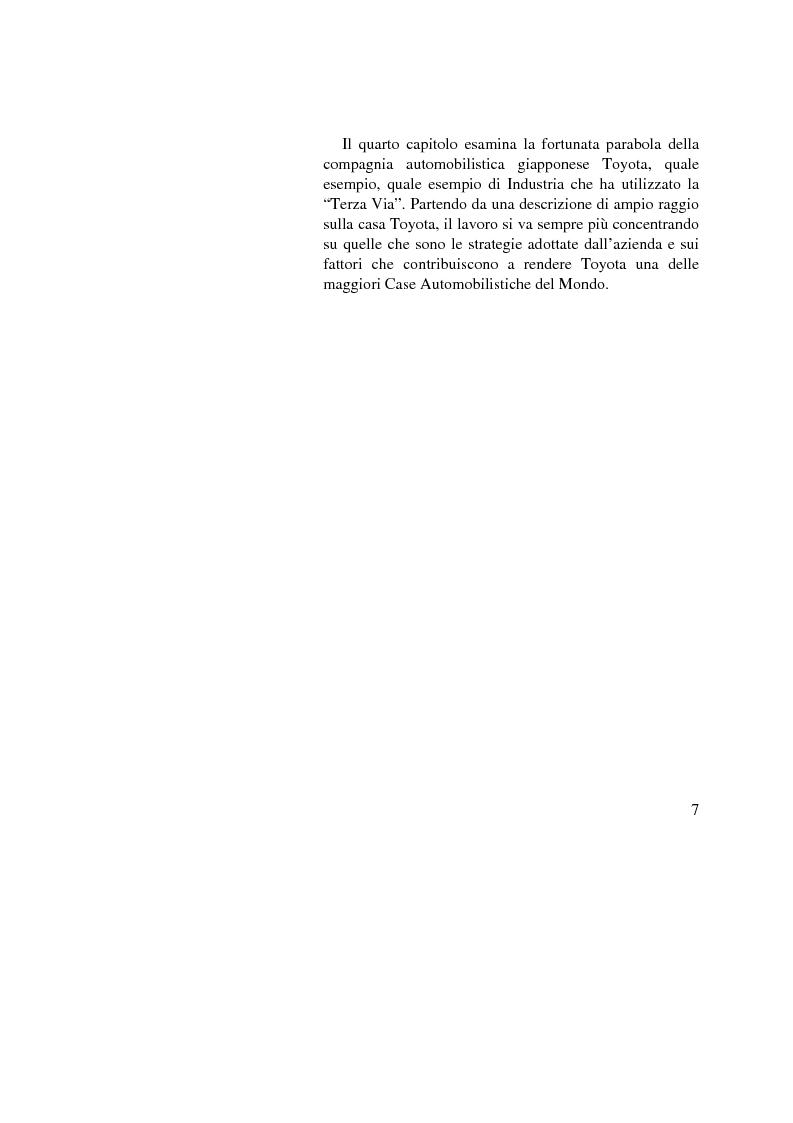 Anteprima della tesi: I vantaggi competitivi di successo: ''il caso Toyota'', Pagina 5