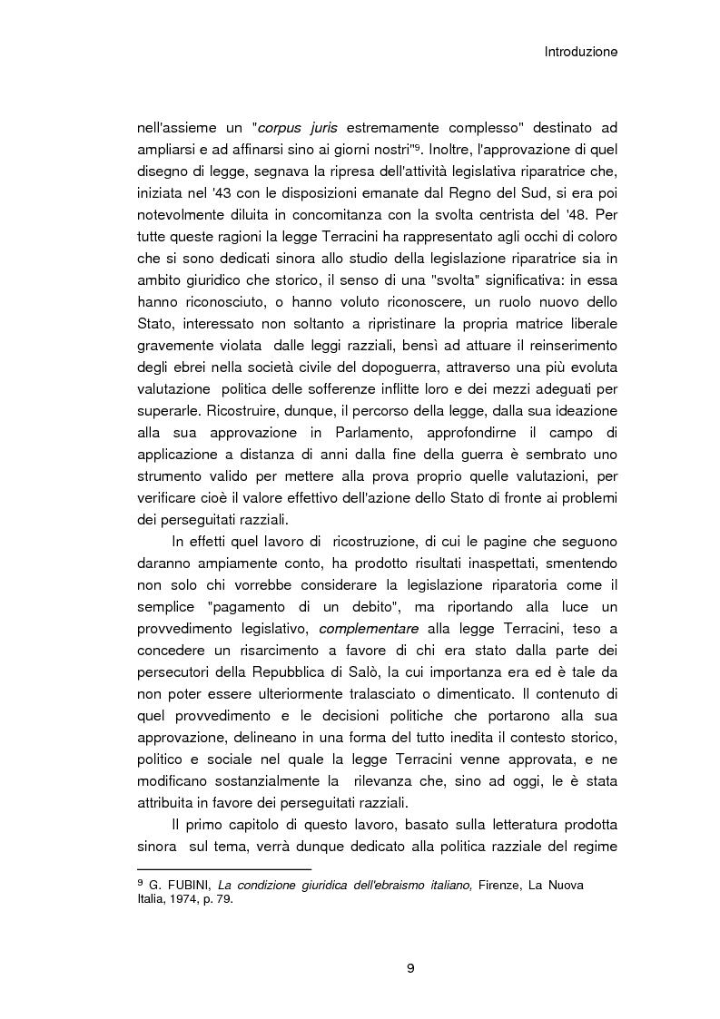 Anteprima della tesi: Il reinserimento dei perseguitati razziali nel secondo dopoguerra. L'itinerario della legge n. 96 del 10 marzo 1955, Pagina 5