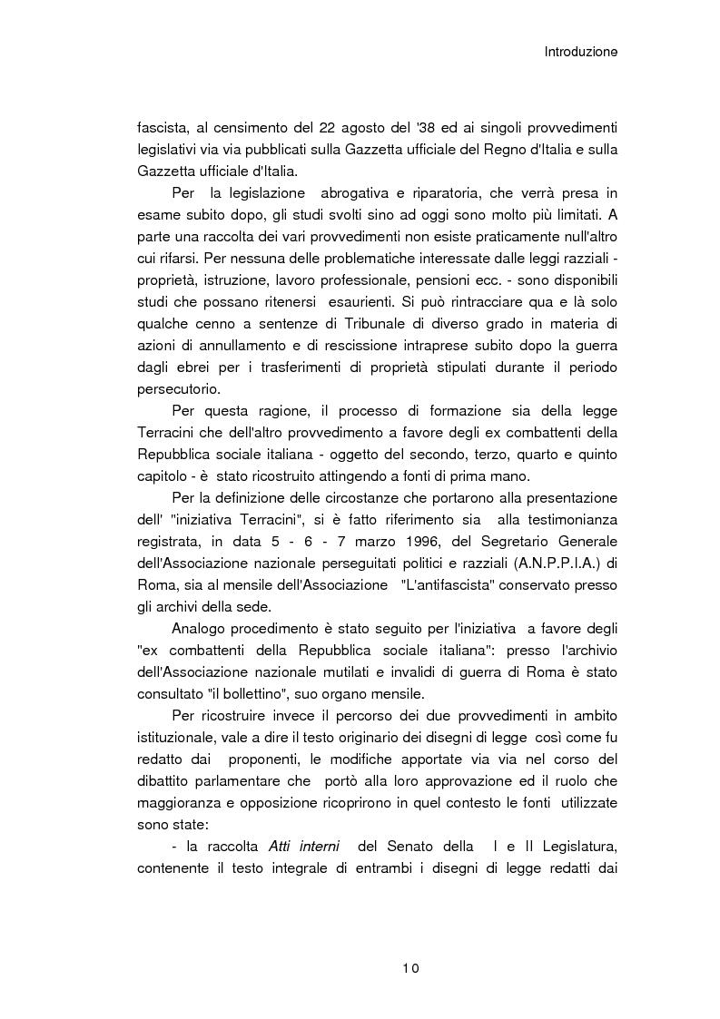 Anteprima della tesi: Il reinserimento dei perseguitati razziali nel secondo dopoguerra. L'itinerario della legge n. 96 del 10 marzo 1955, Pagina 6