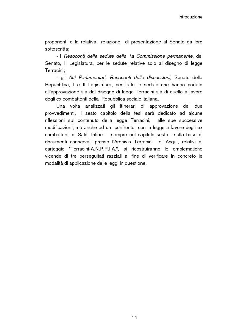 Anteprima della tesi: Il reinserimento dei perseguitati razziali nel secondo dopoguerra. L'itinerario della legge n. 96 del 10 marzo 1955, Pagina 7