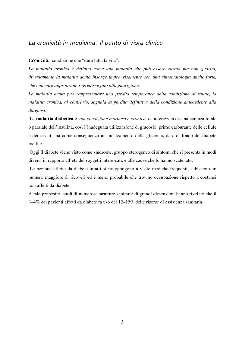 Anteprima della tesi: Psicopatologia di cronicità: vissuto emotivo di malattia cronica in pazienti diabetici complicati arti inferiori, Pagina 2