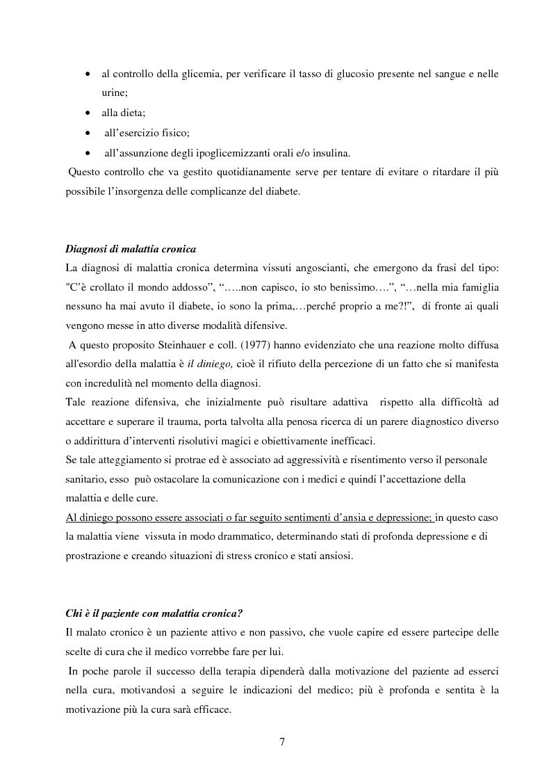 Anteprima della tesi: Psicopatologia di cronicità: vissuto emotivo di malattia cronica in pazienti diabetici complicati arti inferiori, Pagina 6