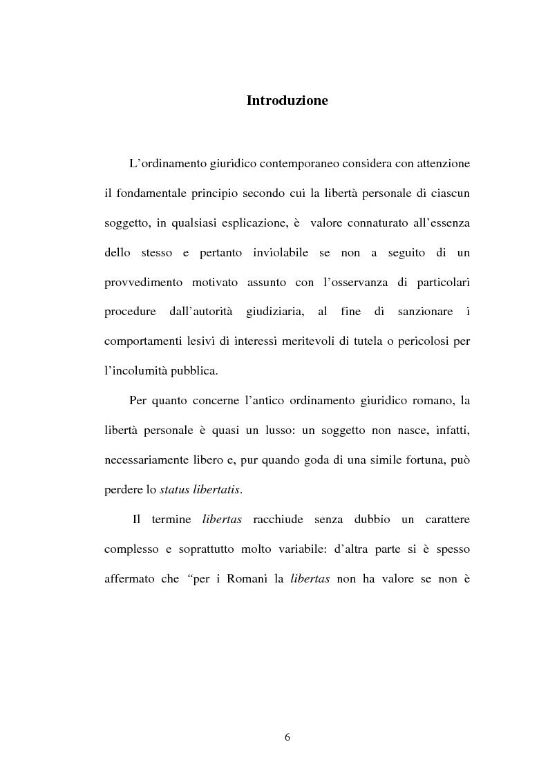 Anteprima della tesi: La LIBERTAS nell'esperienza giuridica romana, Pagina 1