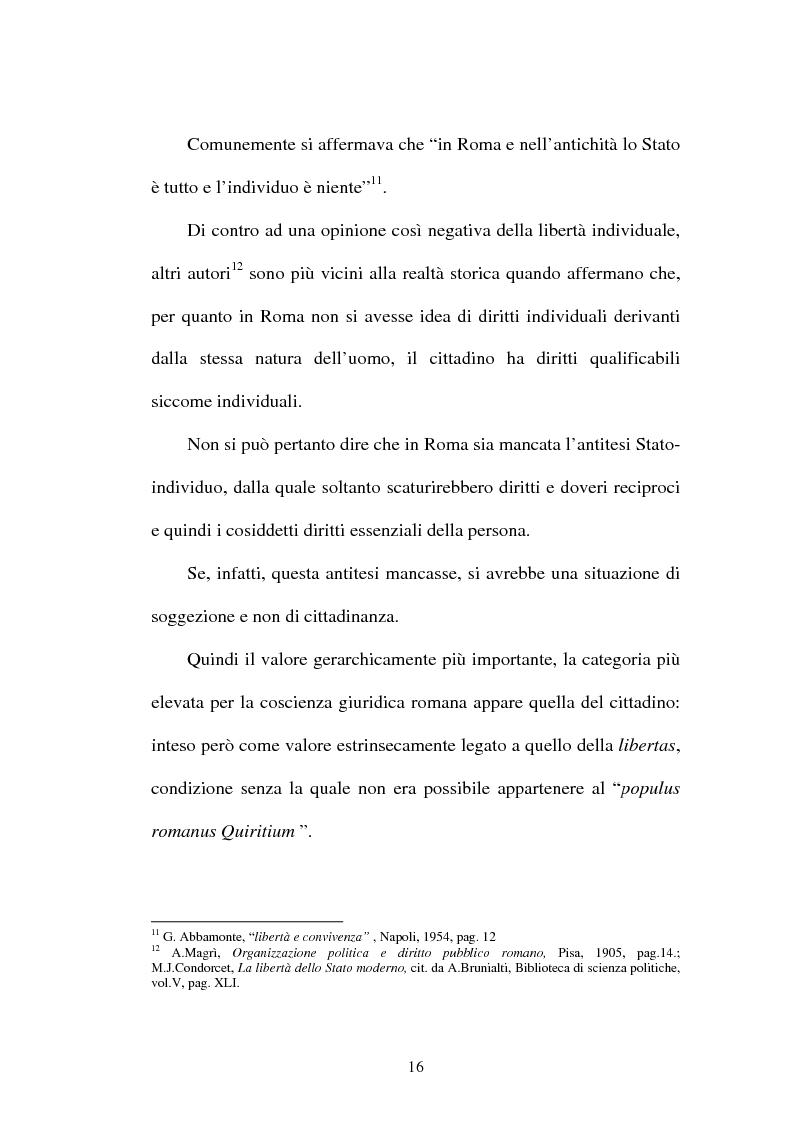 Anteprima della tesi: La LIBERTAS nell'esperienza giuridica romana, Pagina 11