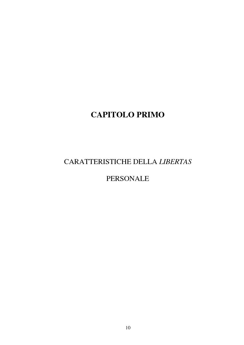 Anteprima della tesi: La LIBERTAS nell'esperienza giuridica romana, Pagina 5