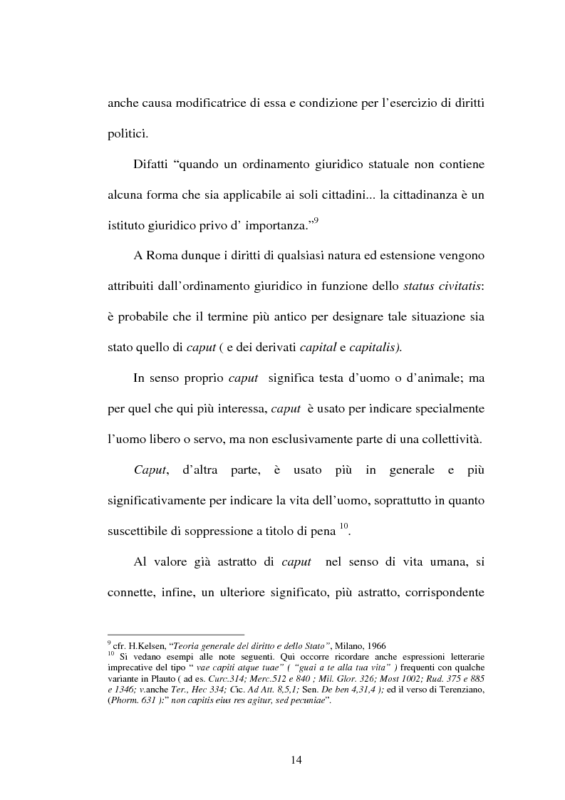 Anteprima della tesi: La LIBERTAS nell'esperienza giuridica romana, Pagina 9