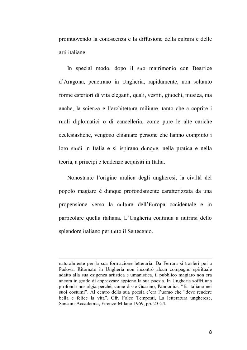 Anteprima della tesi: L'Immagine dell'Italia nella poesia ungherese del primo Novecento, Pagina 8