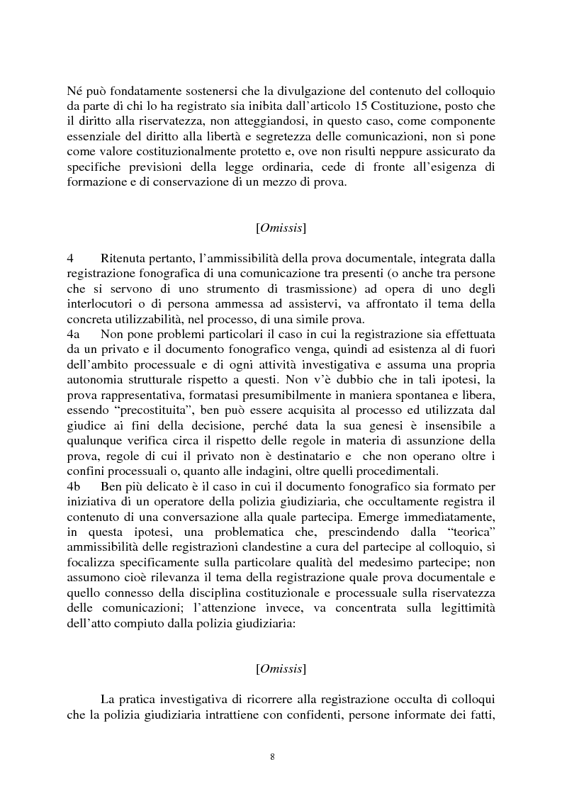 Anteprima della tesi: Sezioni unite Torcasio un'altra vittoria del giusto processo, Pagina 5