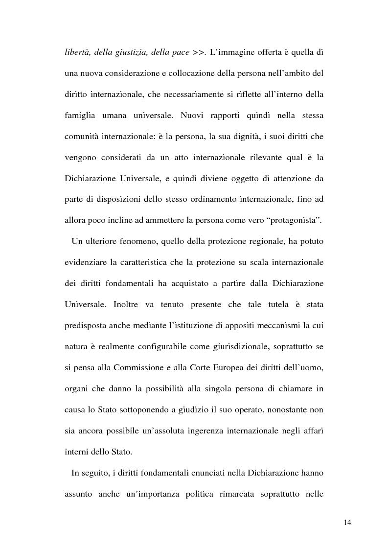 Anteprima della tesi: Tortura e Punizioni o Trattamenti crudeli, inumani e degradanti, Pagina 14