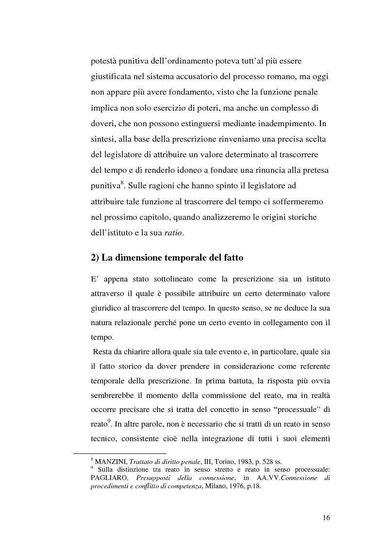 Anteprima della tesi: La prescrizione del reato, Pagina 10