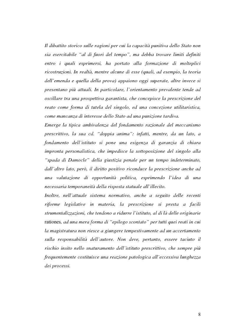 Anteprima della tesi: La prescrizione del reato, Pagina 2