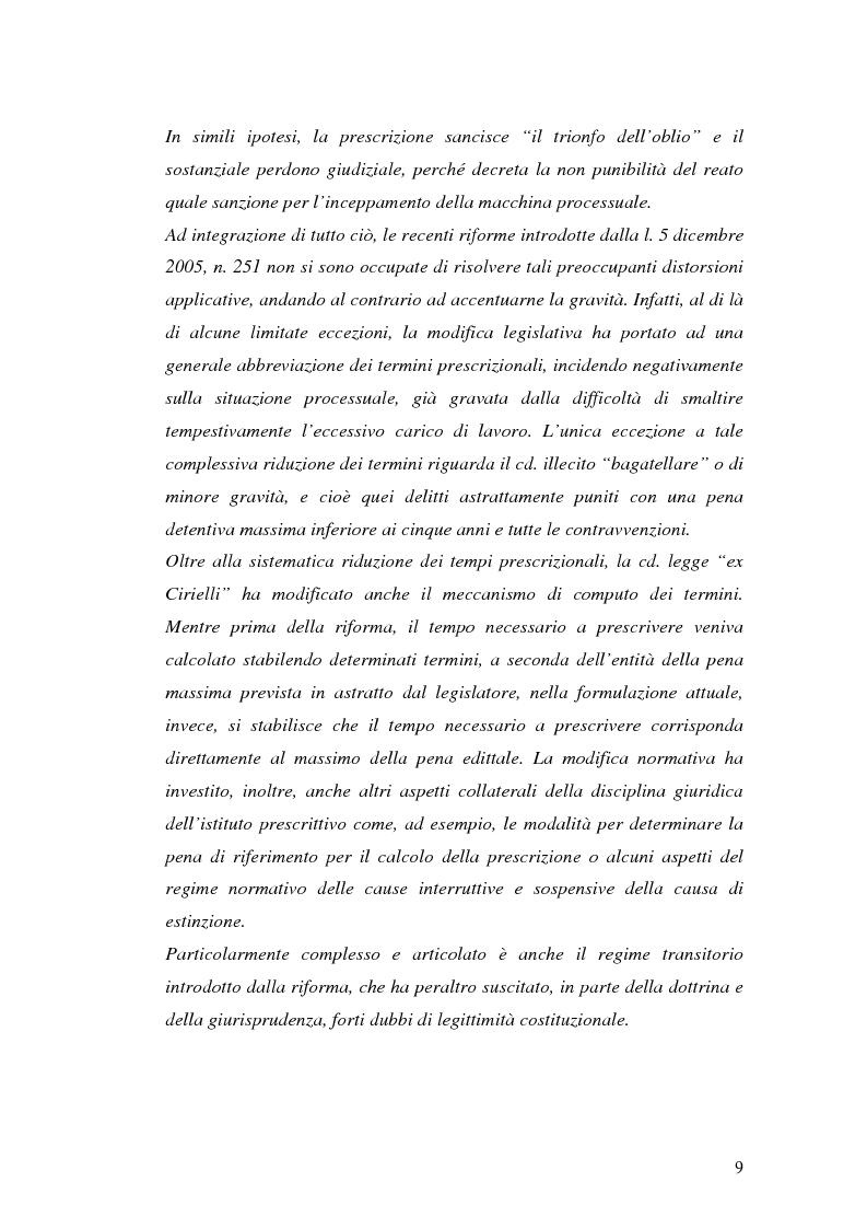 Anteprima della tesi: La prescrizione del reato, Pagina 3