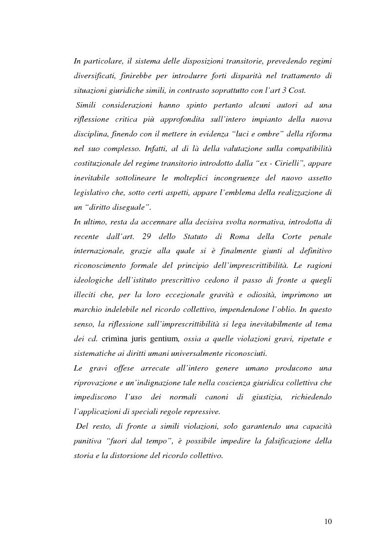 Anteprima della tesi: La prescrizione del reato, Pagina 4