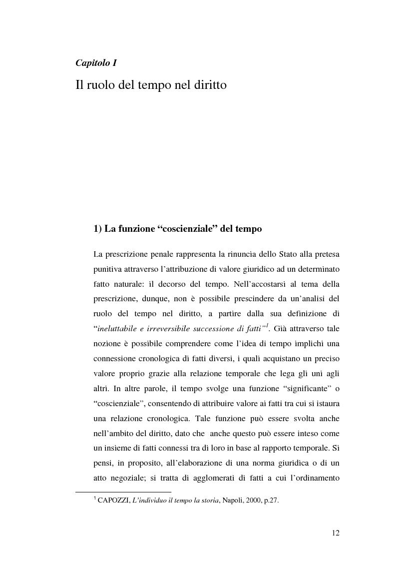 Anteprima della tesi: La prescrizione del reato, Pagina 6