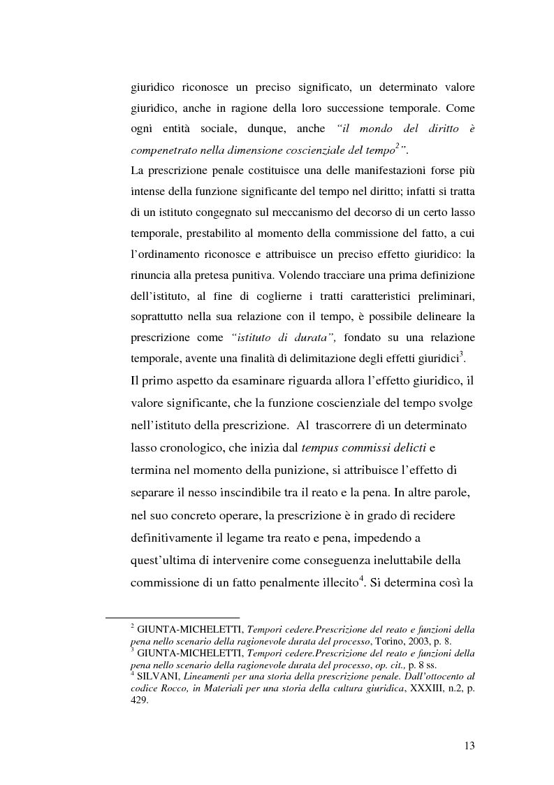 Anteprima della tesi: La prescrizione del reato, Pagina 7