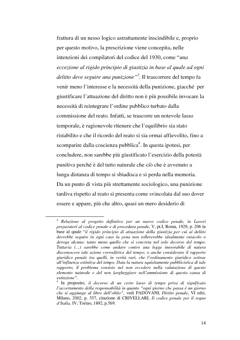 Anteprima della tesi: La prescrizione del reato, Pagina 8