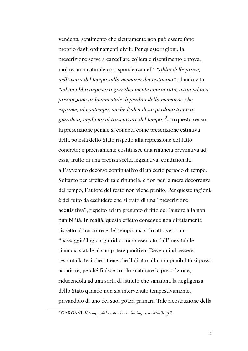 Anteprima della tesi: La prescrizione del reato, Pagina 9