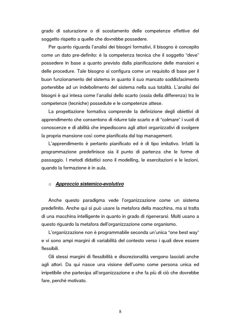 Anteprima della tesi: Le nuove strategie formative nella pubblica amministrazione, Pagina 6