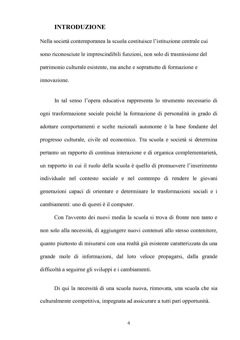 Anteprima della tesi: L'insegnamento multimediale delle lingue nelle scuole elementari, Pagina 1