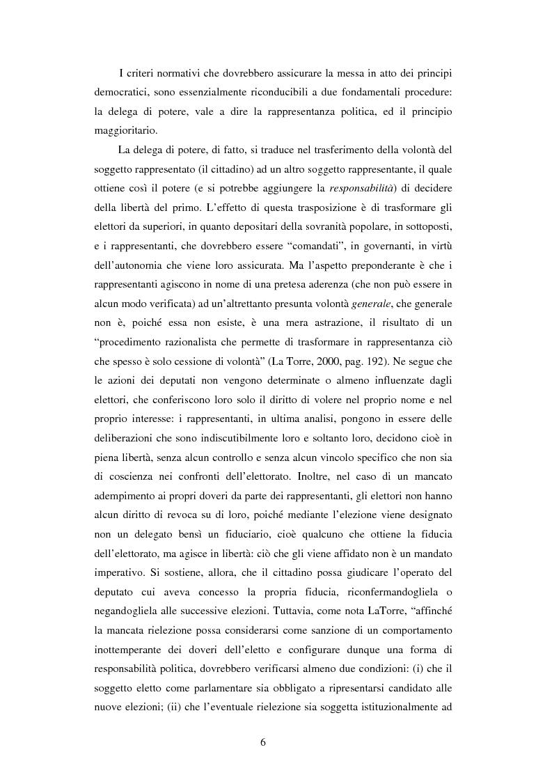 Anteprima della tesi: Per una democrazia radicale: da metodo a ideale normativo, Pagina 5