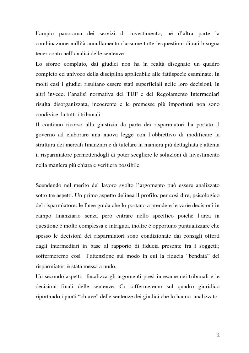 Anteprima della tesi: La tutela del cliente dopo i recenti scandali finanziari, Pagina 2