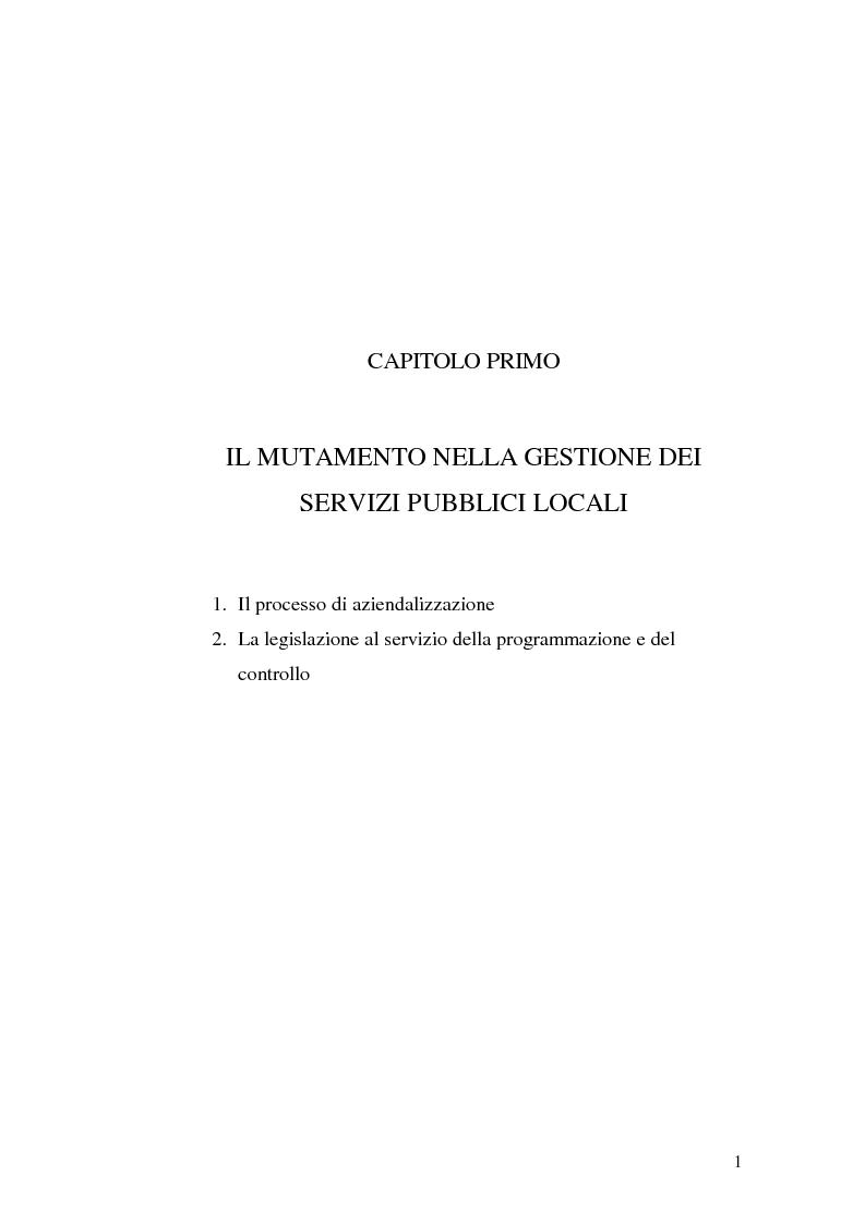 Anteprima della tesi: Le rilevazioni di costo nelle aziende di igiene urbana. Il caso Quadrifoglio S.p.A., Pagina 4