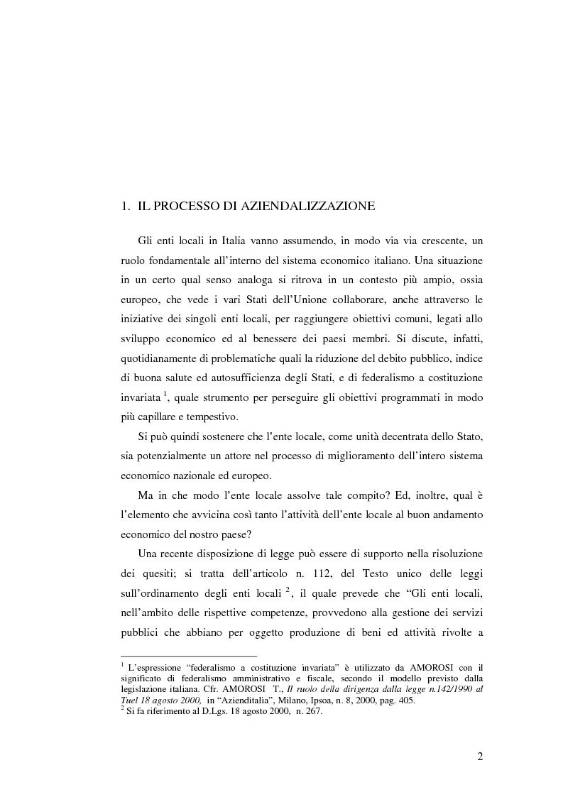 Anteprima della tesi: Le rilevazioni di costo nelle aziende di igiene urbana. Il caso Quadrifoglio S.p.A., Pagina 5