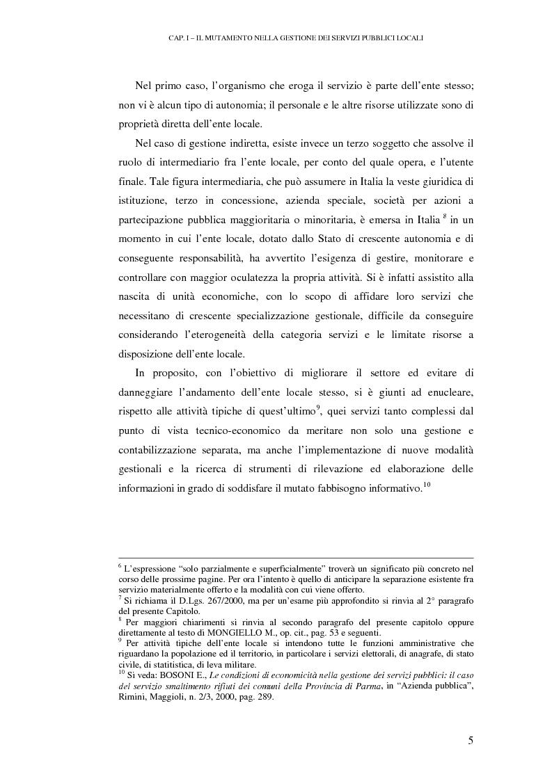 Anteprima della tesi: Le rilevazioni di costo nelle aziende di igiene urbana. Il caso Quadrifoglio S.p.A., Pagina 8