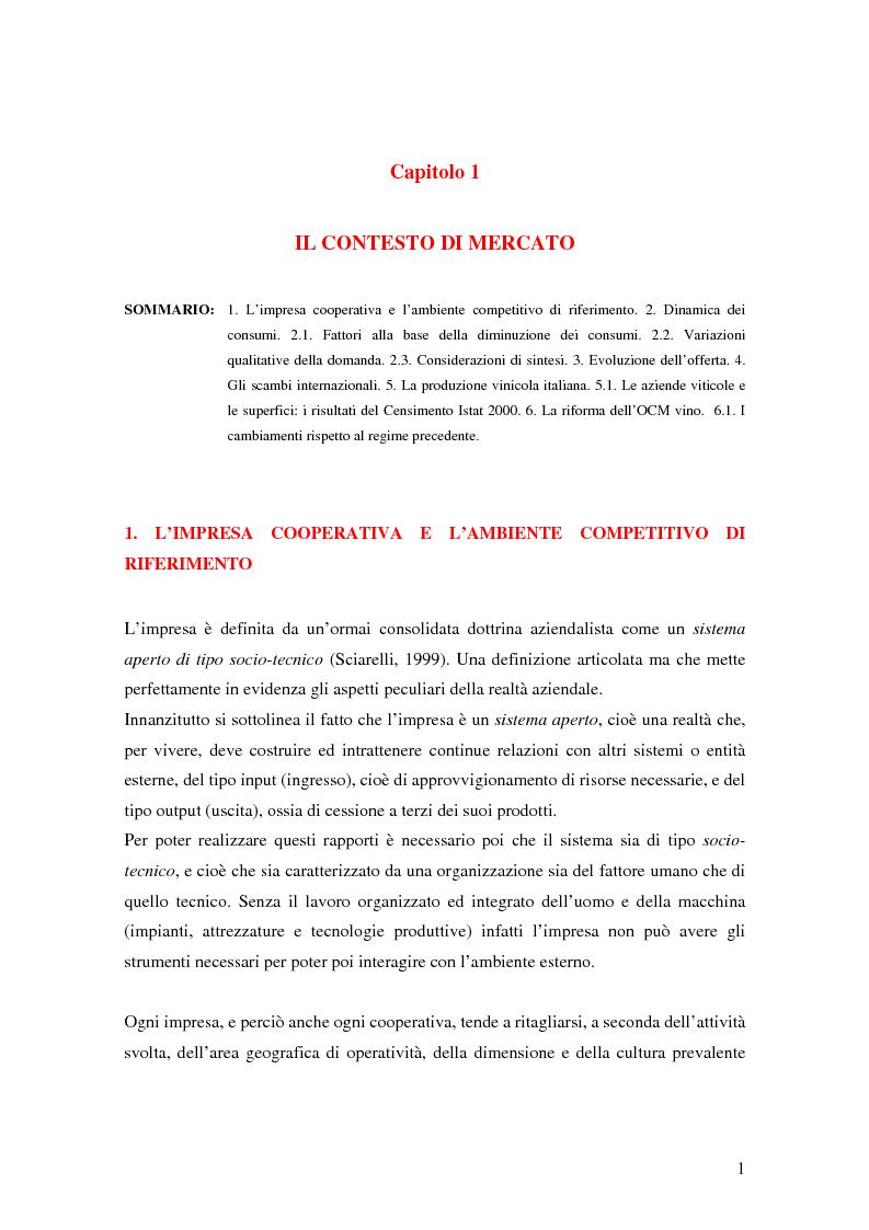 Anteprima della tesi: Strategie di commercializzazione nel mercato vitivinicolo, Pagina 1