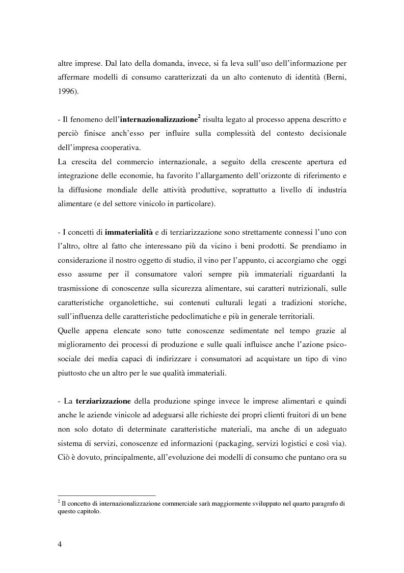 Anteprima della tesi: Strategie di commercializzazione nel mercato vitivinicolo, Pagina 4