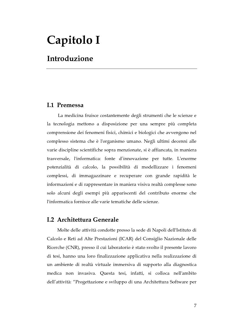 Anteprima della tesi: Realizzazione di un componente software per la segmentazione di immagini in un ambiente per il Medical Imaging, Pagina 1