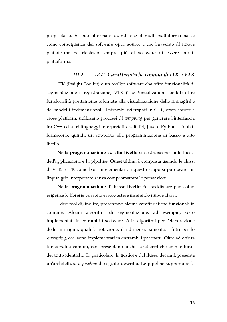 Anteprima della tesi: Realizzazione di un componente software per la segmentazione di immagini in un ambiente per il Medical Imaging, Pagina 10