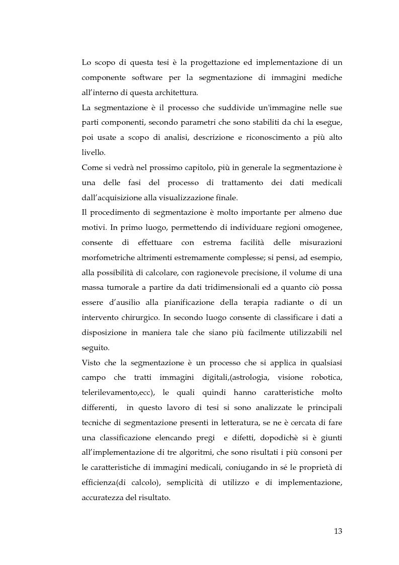 Anteprima della tesi: Realizzazione di un componente software per la segmentazione di immagini in un ambiente per il Medical Imaging, Pagina 7