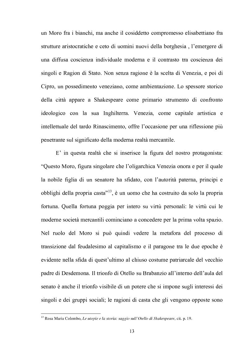 Anteprima della tesi: ''Othello'': dal testo shakespeariano all'immagine cinematografica, Pagina 12