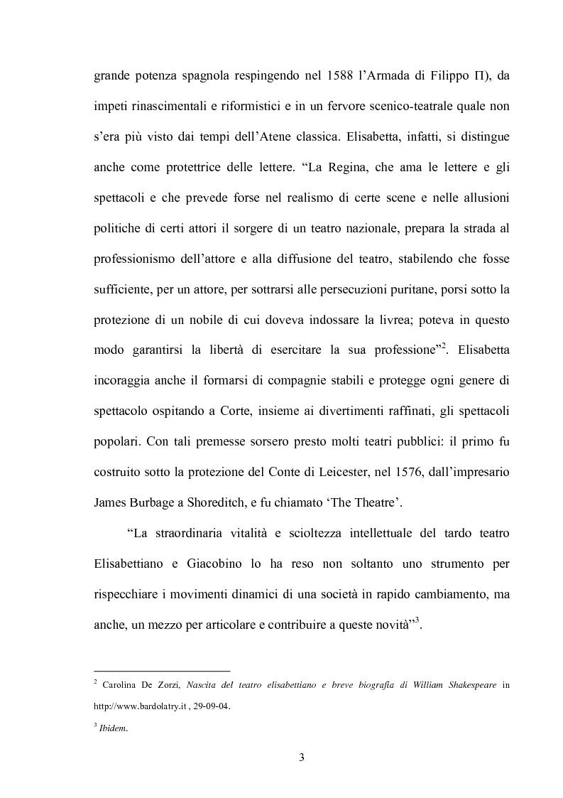 Anteprima della tesi: ''Othello'': dal testo shakespeariano all'immagine cinematografica, Pagina 2