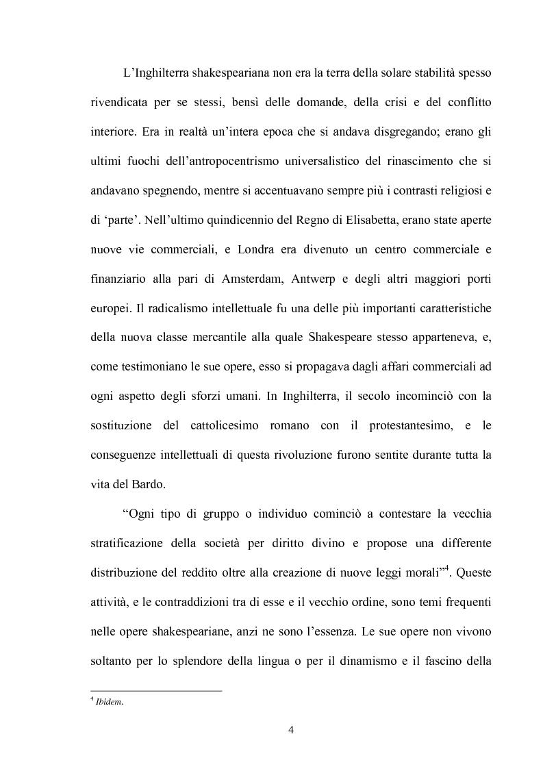Anteprima della tesi: ''Othello'': dal testo shakespeariano all'immagine cinematografica, Pagina 3